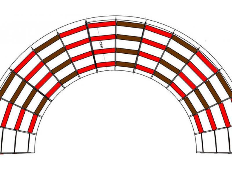 Grada circular de circ en lloguer